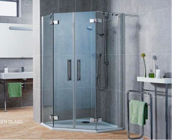 kính nhà tắm cửa mở 2 cánh